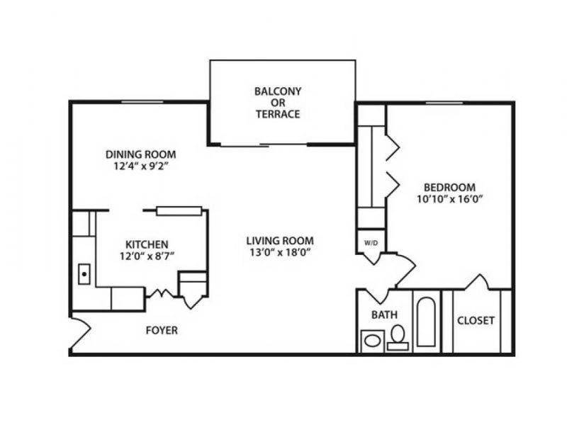 One Bedroom. One Bathroom Apartment